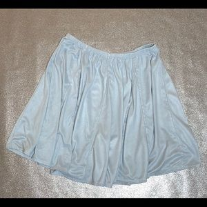 Suede Pastel Blue Circle Skirt
